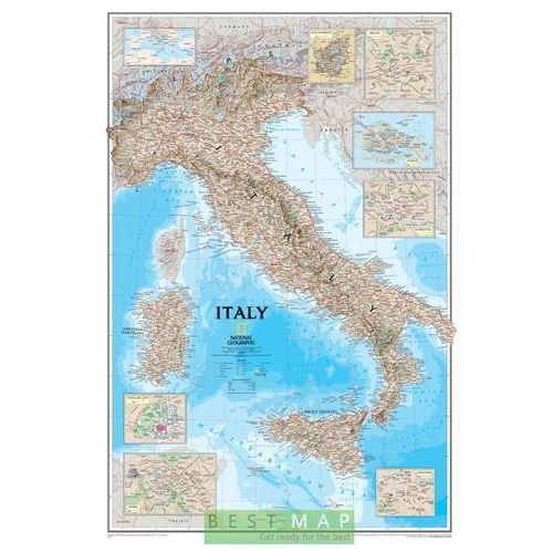 Włochy. Mapa ścienna Classic 1:1,77 mln wyd. , produkt marki National Geographic
