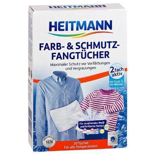 HEITMANN 20szt Niemieckie Chusteczki do prania wypłukujące kolor i brud, Heitmann z bdsklep.pl