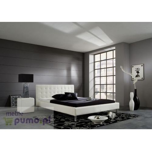 Nowoczesne łóżko JOEL - kolor biały - 180 x 200cm ze sklepu Meble Pumo