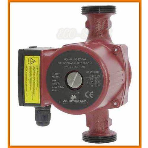 Towar z kategorii: pompy cyrkulacyjne - pompa obiegowa 0301W WEBERMAN 25-80 do instalacji grzewczej i solarnej Ferro