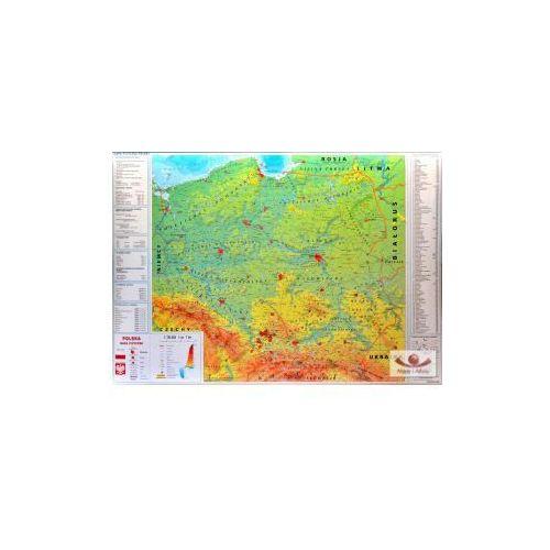 Produkt Polska dwustronna mapa ścienna fizyczna z elementami ekologii/konturowa, marki Meridian