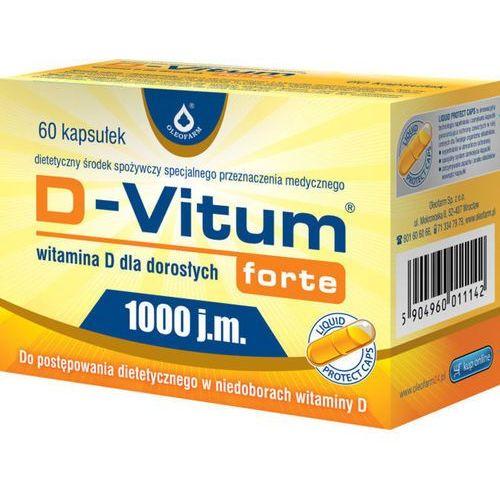 D-Vitum forte 1000 j.m. 60 kaps., postać leku: kapsułki