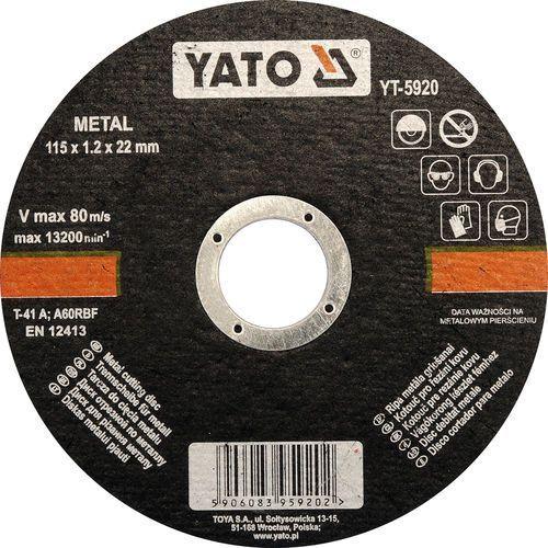 Oferta Tarcza do cięcia metalu 115x1,2x22 mm YT-5920