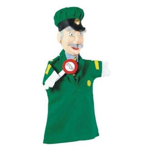 Pacynka na dłoń dla dzieci do teatrzyku - policjant (pacynka, kukiełka)