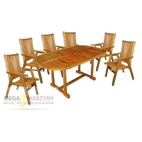 HECHT Stół + 6 krzeseł Rounded Set (stół ogrodowy)