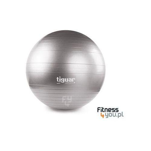 PIŁKA GIMNASTYCZNA SAFETY PLUS 65 CM TIGUAR (SZARA) :: TRUSTED SHOPS :: POLECANY SPRZEDAWCA :: TEL. 801000505 :: www.aerobik.fitness, produkt marki Tiguar
