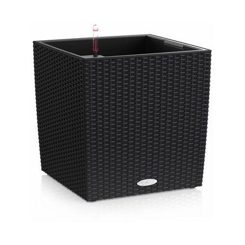 Donica  CUBE COTTAGE 2012 - czarna - 50 cm - all inclusive - Czarny, produkt marki Lechuza