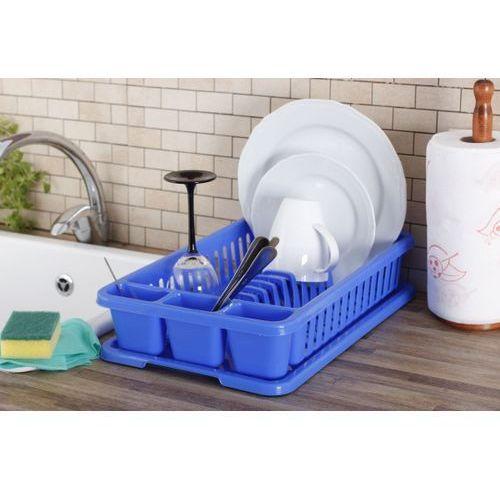 Plastikowa suszarka do naczyń CURVER MAŁA NIEBIESKA 42 x 27 cm - rabat 10 zł na pierwsze zakupy! - produkt z kategorii- suszarki do naczyń