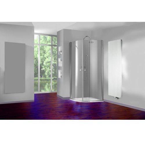 Huppe 501 Design pure Drzwi prysznicowe skrzydłowe - 90/190cm biały Szkło Intima Anti-Plaque 510661055375 (