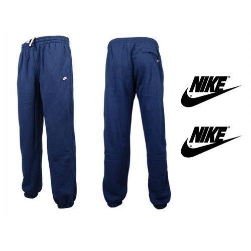 Dresy spodnie bawełna NIKE FLEECE navy - produkt z kategorii- spodnie męskie