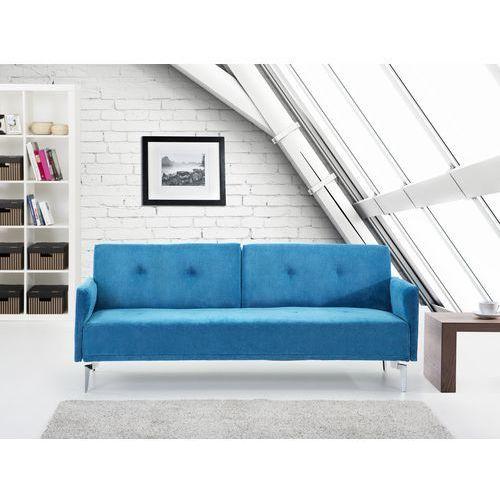 Sofa do spania - kanapa rozkladana - morska - Lucan, Beliani
