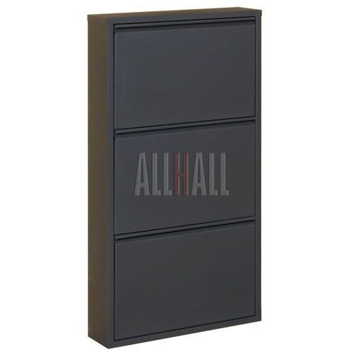 Szafka na buty HOME HB3 - czarny połysk, marki AllHall do zakupu w Meble Pumo