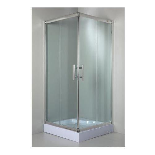 SEA-HORSE - Kabina 80x80 Sigma kwadratowa bez/br Transparent BK001/1/Q (drzwi prysznicowe)
