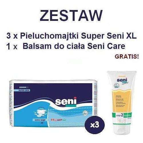 Produkt Pieluchomajtki Super Seni (4) XL 3op. x 30szt + Balsam Seni Care