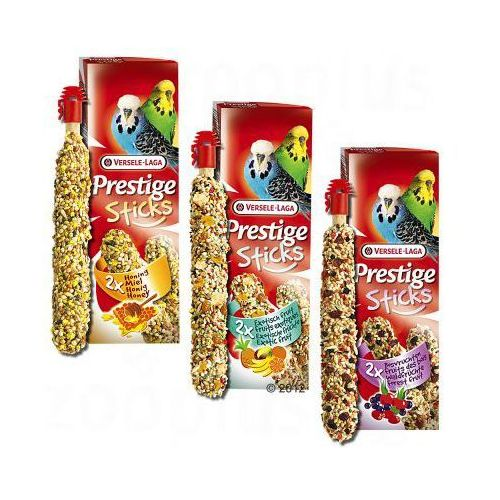 Prestige Sticks dla papug falistych i kanarków - 2 x 2 szt. Owoce leśne (po 60 g), Versele Laga