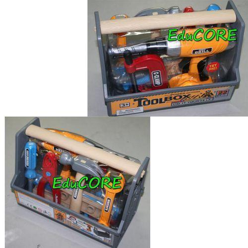 NARZĘDZIA 22 el skrzynka zestaw DIY zr782 EduCORE (skrzynka narzędziowa zabawka) od educore.abc24.eu