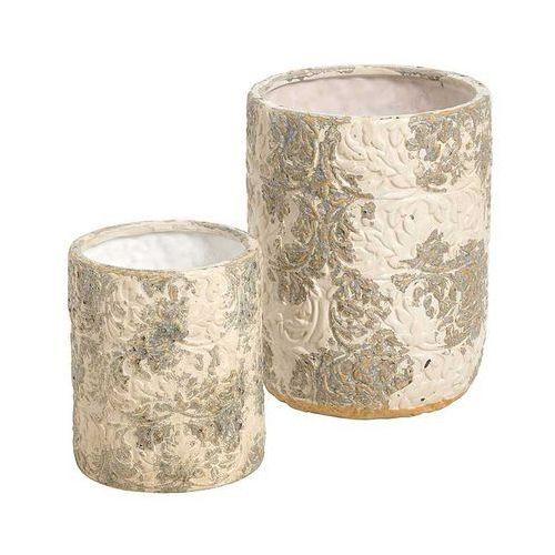 Produkt Donica osłonka Piasek Pustyni Flower, marki Kolekcja Belldeco