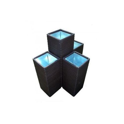 Produkt Donica z technorattanu -  - poczwórna 84 x 75 x 50 cm, marki RattanArt