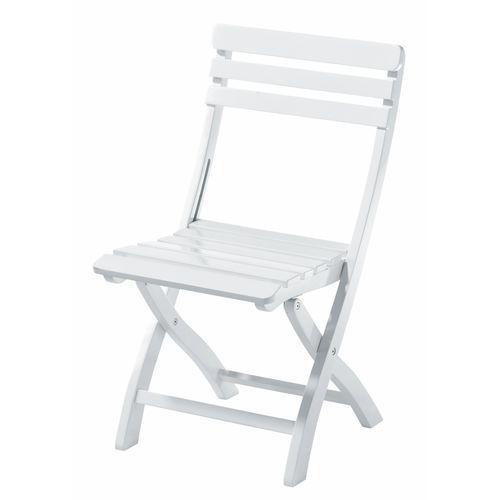 Krzesło składane Cinas Clarish biały połysk ze sklepu All4home
