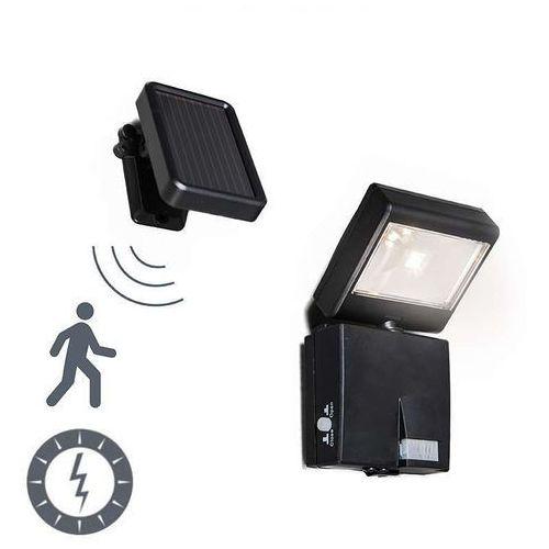Lampa zewnętrzna Dark projektor LED z panelem słonecznym