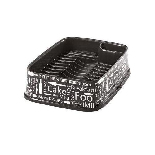 Curver DECO Suszarka do naczyń prostokątna czarna Kitchen 211630 - produkt z kategorii- suszarki do naczyń