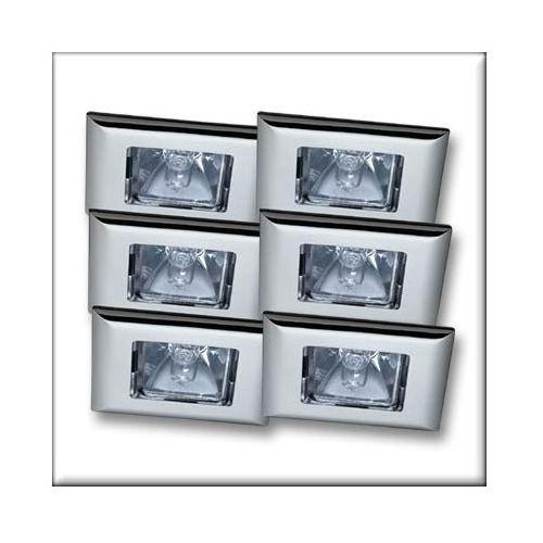 Wysokogat. oprawy wbudowywane Quadro wychylne stal chrom 6x35W z kategorii oświetlenie