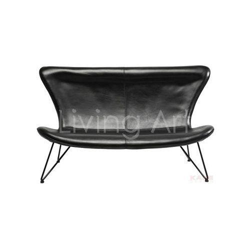 Sofa Miami Black 3-Seater, kare design