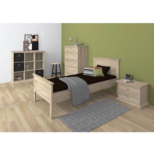 Romantyczne łóżko dąb sonoma PARIS 90x200 - 90x200 cm ze sklepu Meble Pumo