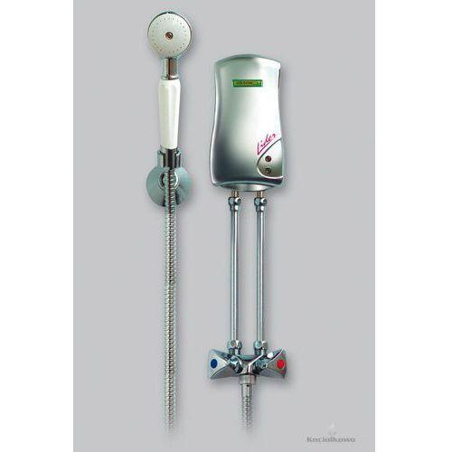 Produkt  LIDER, przepływowy bezciśnieniowy ogrzewacz wody, prysznicowy, 4,5 kW, biały [251-00-451], marki Elektromet