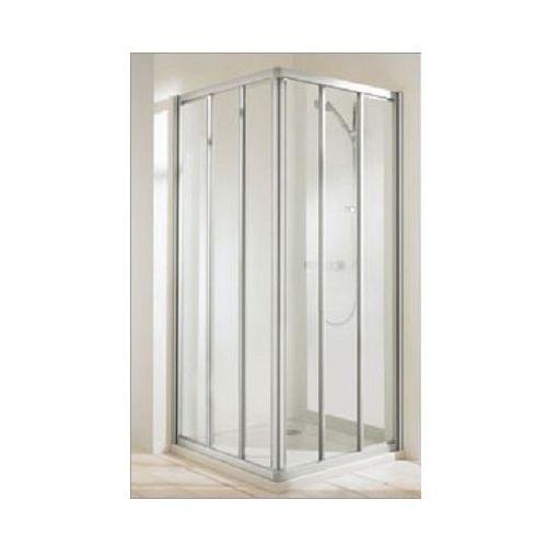 HUPPE CLASSICS ELEGANCE Wejście narożnikowe (1/2) drzwi 3-częściowe 100x190, srebrny mat, szkło transp. 5