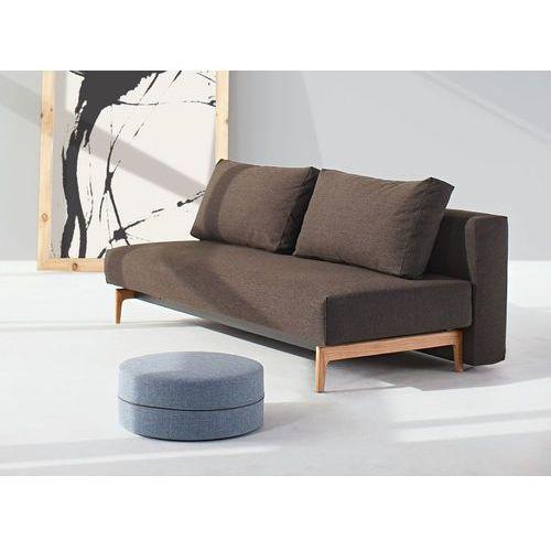 Istyle Trym Sofa Rozkładana, brązowa tkanina 523, nogi drewniane - trym745021523-01