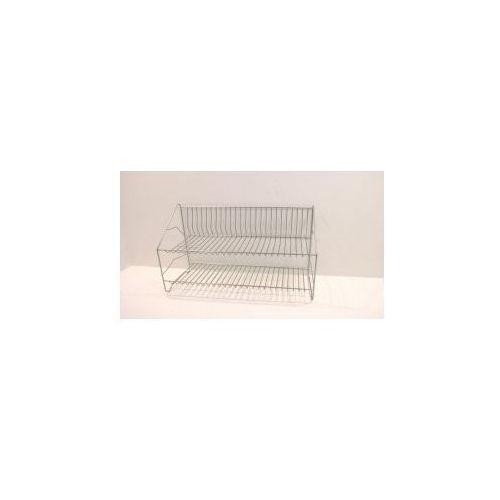 Produkt z kategorii- suszarki do naczyń - Ociekacz chromowany dwupoziomowy 50cm + rynna.