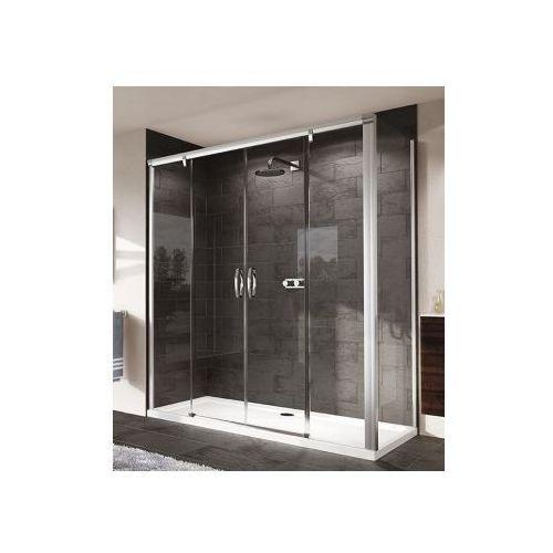 HUPPE AURA ELEGANCE 4-kąt ścianka boczna do drzwi suwanych 2-częściowych ze stałymi segmentami/drzwi suwa