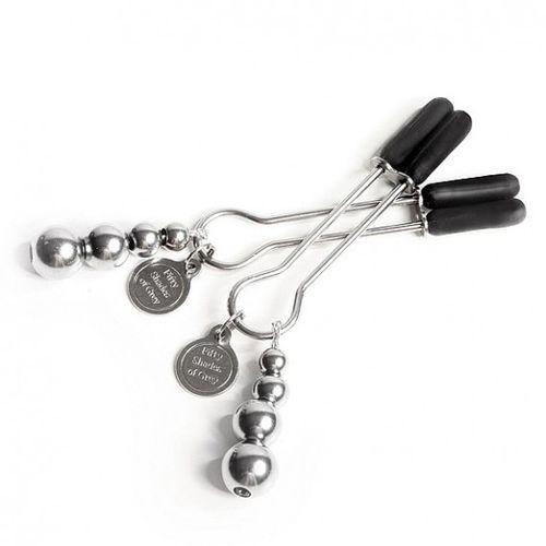 50 Shades of Grey - Zaciski na stutki - Adjustable Nipple Clamps - oferta [05d8407217255530]