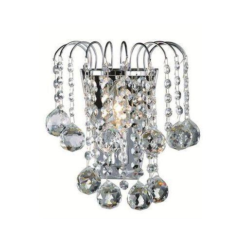 KINKIET kryształowy LAMPA ścienna OPRAWA klasyczna HABERG  102490 chrom, produkt marki Markslojd