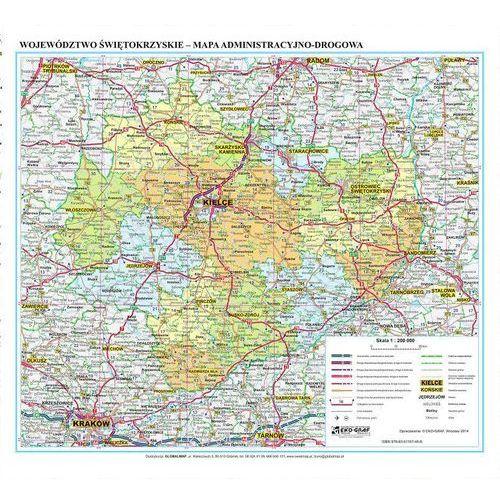 Województwo Świętokrzyskie. Mapa ścienna administracyjno-drogowa w ramie 1:200 000 wyd. , produkt marki Eko-Graf