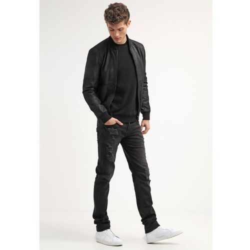 True Religion ROCCO WILD NIGHT Jeansy Slim fit black denim - produkt z kategorii- spodnie męskie
