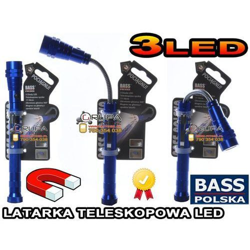TELESKOPOWA LATARKA LED CHWYTAK:17-56cm; 3x LED z kategorii oświetlenie