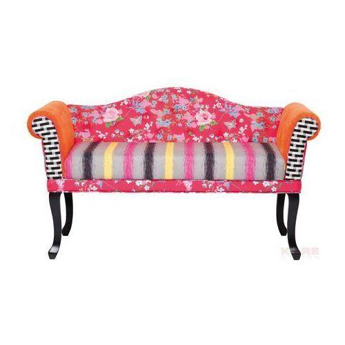 Bazar Sofa Patchwork 2 Osobowa Kolorowa Tkanina 146x84x68cm - 78462