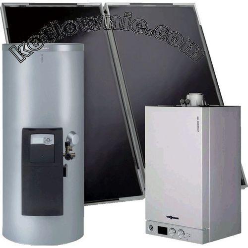 Oferta zestaw Vitodens (B1HA) 100-W 6,5 - 26,0kW z zestawem solarnym Vitosol 200-F 4,36m2 i podgrzewaczem biwalentnym 250 litrów. Oferta ważna wyłącznie z usługą montażu. z kat.: ogrzewanie
