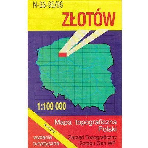 N-33-95/96 Złotów. Mapa topograficzno-turystyczna 1:100 000 wyd. WZ-Kart, produkt marki Wojskowe Zakłady Kartograficzne