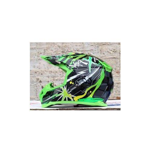 Kask cross/enduro/quad NAXA C8 / Zielona grafika NOWOŚĆ 2014 ! z kategorii kaski motocyklowe