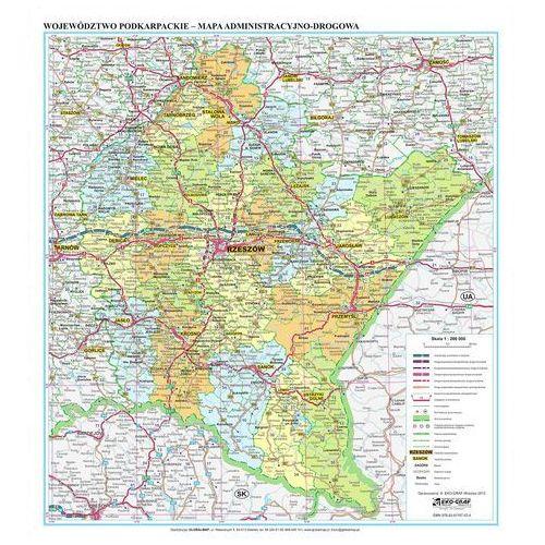 Województwo Podkarpackie. Mapa ścienna administracyjno-drogowa magnetyczna w ramie 1:200 000 wyd. , produkt marki Eko-Graf