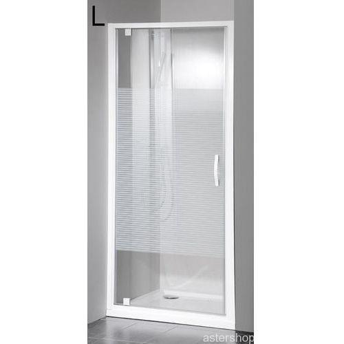 ETERNO drzwi prysznicowe do wnęki 80cm szkło STRIP GE6680 (drzwi prysznicowe)