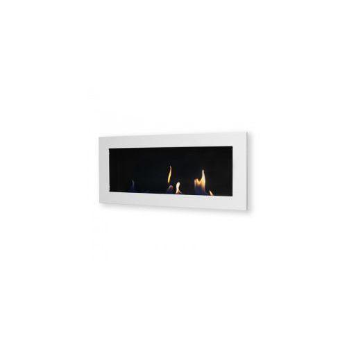 Biokominek dekoracyjny prostokątny 90x40 biały Flat - EcoFire - oferta [0569447507f5051d]