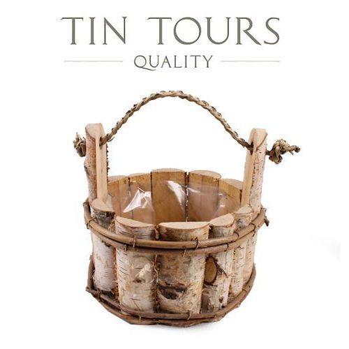 Produkt DONICZKA Z BRZOZY W KSZTAŁCIE WIADERKA 21x21x20 cm, marki Tin Tours Sp.z o.o.