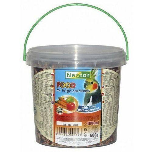 Nestor Pokarm dla średniej papugi owocowo-warzywny 1L, nestor