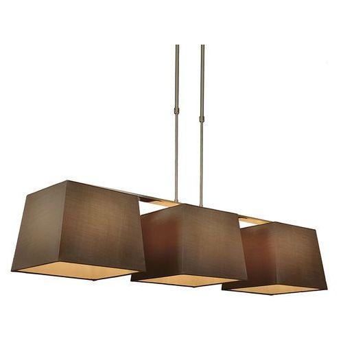 Lampa wisząca Combi Delux 3 klosz kwadratowy 30cm brązowy - sprawdź w lampyiswiatlo.pl