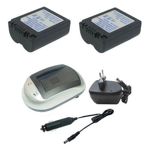 01. Zestaw 2 x bateria PANASONIC CGA-S006E, CGR-S006E + ładowarka, marki Hi-Power do zakupu w ebaterie.pl