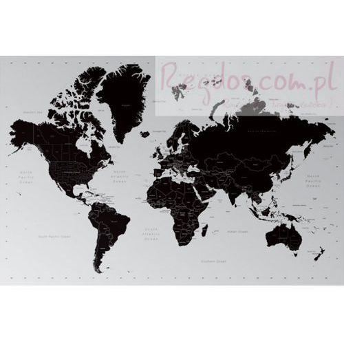 Współczesna Mapa Świata - Podział Polityczny - plakat, produkt marki gf